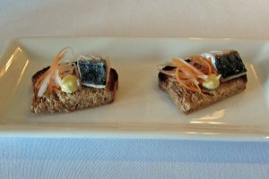 Restaurant Nathan Outlaw - Mackeral with Horseradish salad on Wholegrain bread