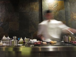 Open kitchen at Degustation, New York City